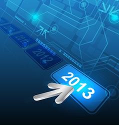 cursor click 2013 button vector image