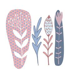 deco floral vector image