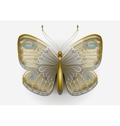 Delicate butterfly on a white background vector