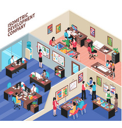 Development company isometric vector