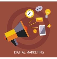 Digital Marketing Concept Art vector image