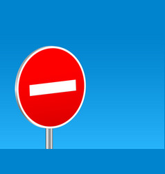 do not enter sign background vector image
