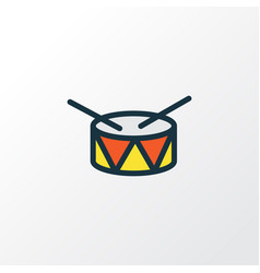 Drum colorful outline symbol premium quality vector