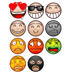 Face emoticon set vector