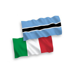 Flags italy and botswana on a white background vector