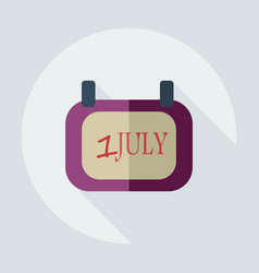 Flat modern design with shadow icons july 1 vector