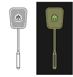 fly swatter anti-fly weapon simple vector image
