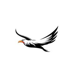 flying bird icon design color vector image