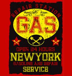 garage repair service print for t shirt in custom vector image