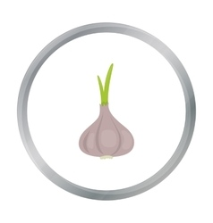 Garlic icon cartoon Singe vegetables icon from vector