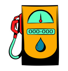gas station icon icon cartoon vector image