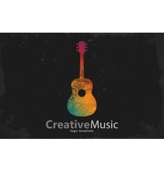 Guitar logo Creative guitar logo Music logo vector