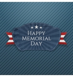 Happy Memorial Day Badge with Ribbon vector