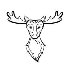 head of a elk vector image