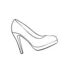 High heeled glittering elegant white wedding vector image