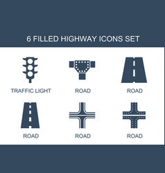 highway icons vector image