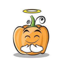innocent pumpkin character cartoon style vector image