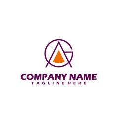 letter a logo royal hotel premium boutique vector image