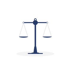 libra icon on a white background scales law vector image