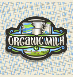 logo for organic milk vector image