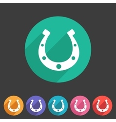 Luck horseshoe icon flat web sign symbol logo vector image