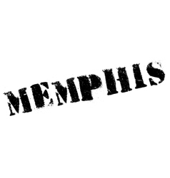 Memphis stamp rubber grunge vector image