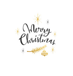 merry christmas everyone modern brushpen vector image
