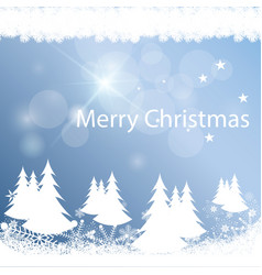 Merry christmas the background is gently blue vector