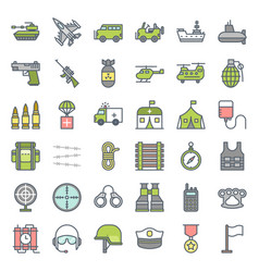 military and weapons filled outline icon vector image