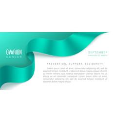 ovarian cancer awareness month banner vector image