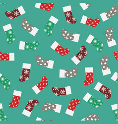 patterns of christmas socks vector image