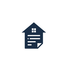 property document logo icon design vector image