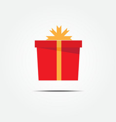 Red gift box vector