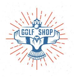 retro golf badge vector image