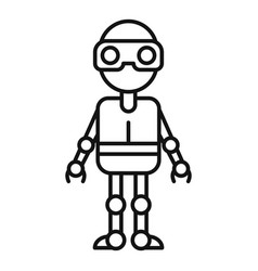 robot icon outline style vector image