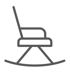 rocking chair line icon furniture and home vector image