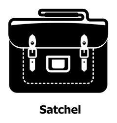 Satchel bag icon simple black style vector