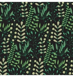 Seamless background with hand-drawn herbs of vector