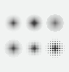 set halftone pattern for comics design element vector image