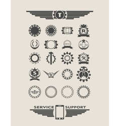 Set of industrial emblems and elements vector