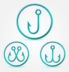 simple hook icons set vector image