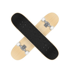 Skateboard template for your design vector