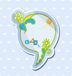 Speech bubble childrens drawings vector image