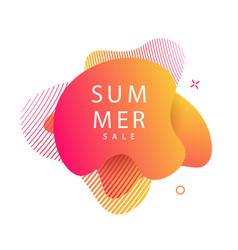 summer modern futuristic gradient banner vector image