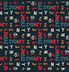 Sydney pattern seamless design vector