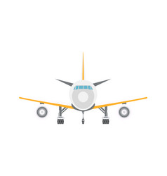 Takeoff passenger airplane isolated icon vector