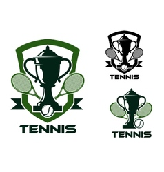 Tennis tournament badges and logo vector image