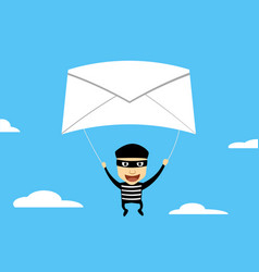 thief use phishing mail to hacking vector image