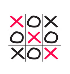 tictactoe game isolated on white background vector image