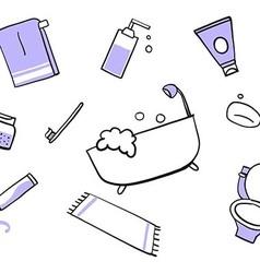 Toilet doodle vector